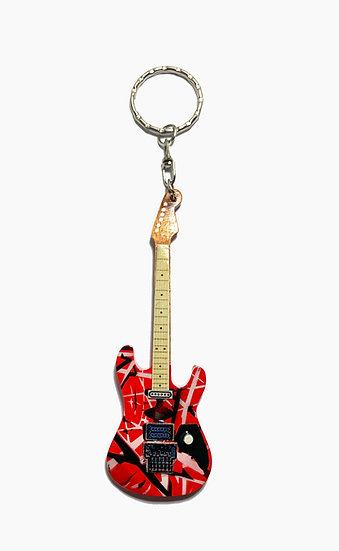 Eddie Van Halen Handcrafted Guitar Keychain - Red