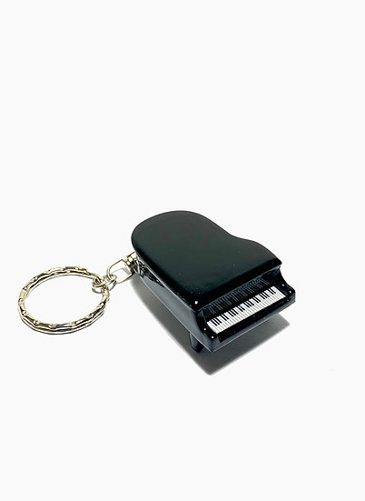 Handcrafted Black Piano Keychain