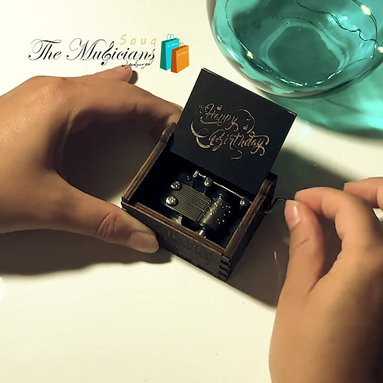 Happy Birthday Melody -Special Crafted Black Music Box