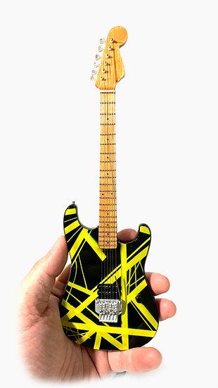Eddie Van Halen Handcrafted Unique Yellow Guitar Miniature