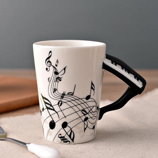 Piano Mug Music Notes 400ml