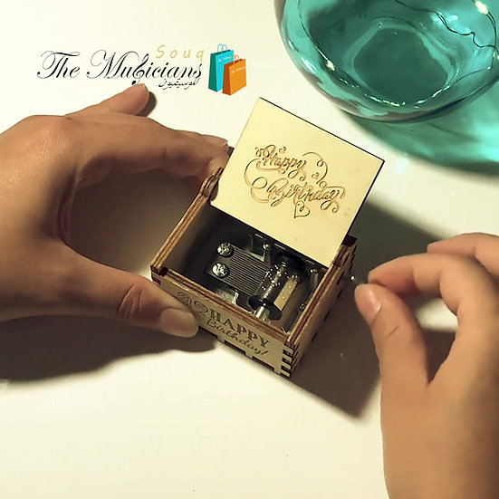 Happy Birthday Melody -Special Crafted White Music Box
