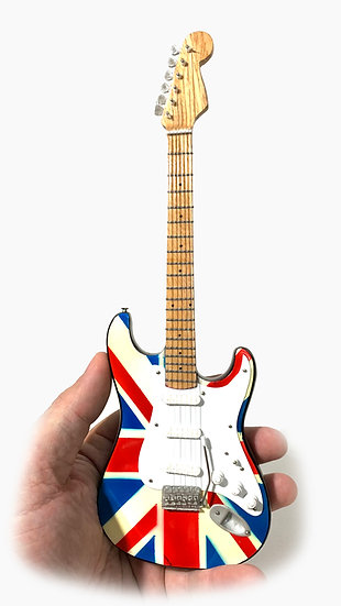 Fender Stratocaster Union Jack Handcrafted Guitar Miniature