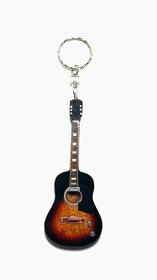 Handcrafted Acoustic Guitar Keychain