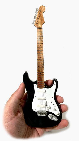 Eric Clapton Handcrafted Black Fender Guitar Miniature