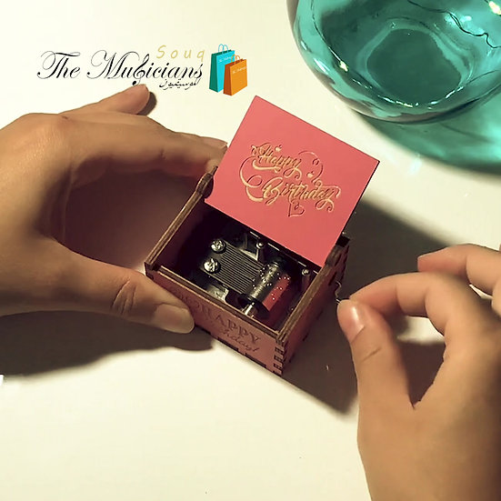 Happy Birthday Melody -Special Crafted Pink Music Box