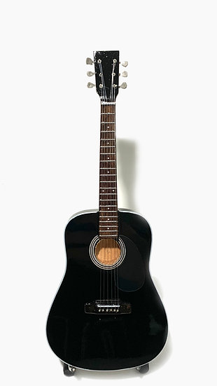 Black Acoustic Guitar Handcrafted Miniature