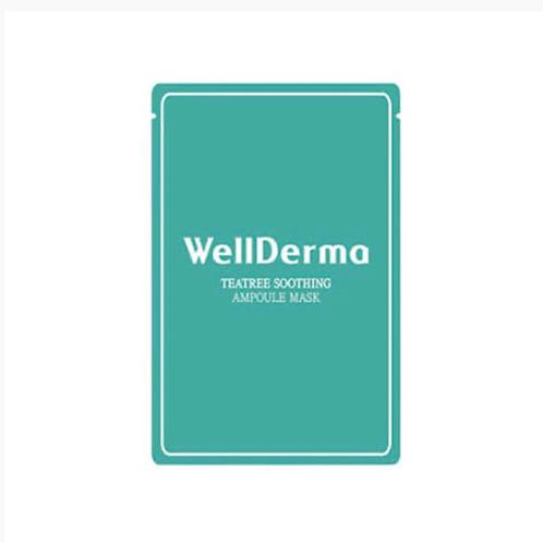 Успокаивающая тканевая маска с чайным деревом WellDerma Teatree Trouble Care Amp