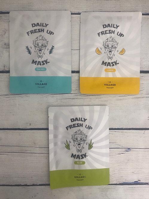 Освежающие тканевые маски Village 11 Factory Daily Fresh Up Mask
