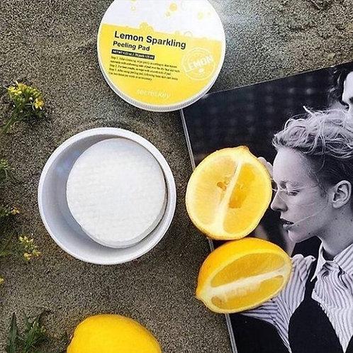 Двусторонние ватные пилинг пады  с лимоном Secret Key Sparkling Peeling Pad