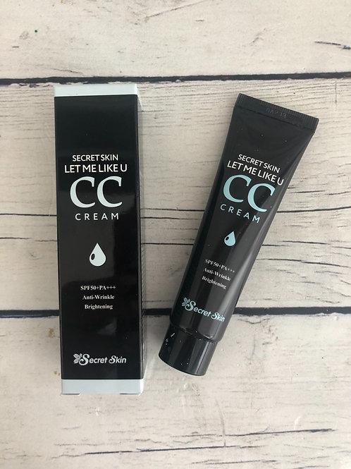 СС крем для выравнивания тона кожи Secret Skin Let Me Like U CC Cream SPF50+ PA+
