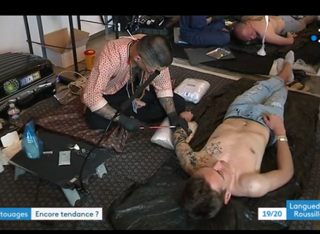 French TV in Montpellier Tattoo Convention