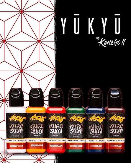 KENSHO YŪKYŪ INK SET from Kuro Sumi Tattoo Ink