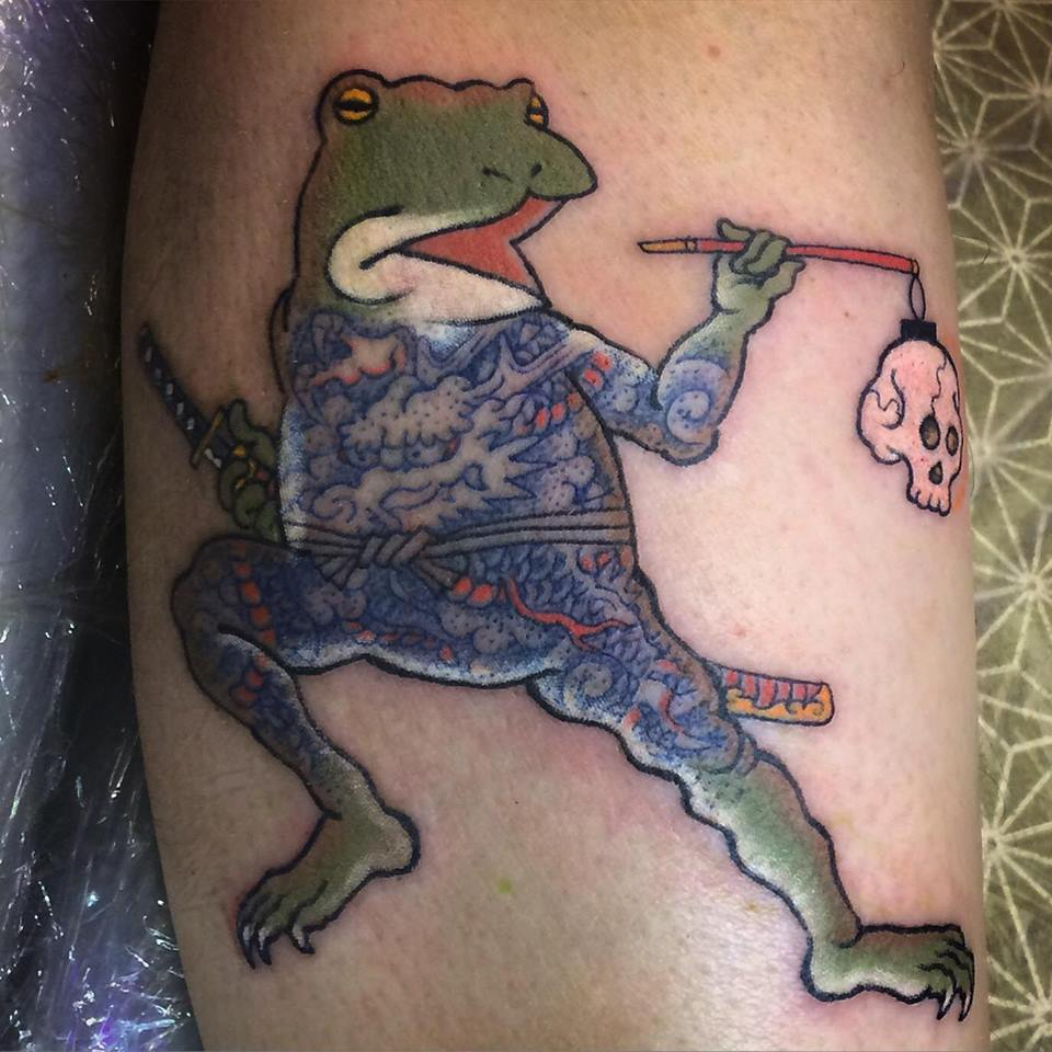 Tattooed Samurai Frog