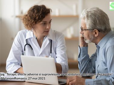 Terapii, efecte adverse si supraviețuirea pacientului cu melanom metastatic in Romania