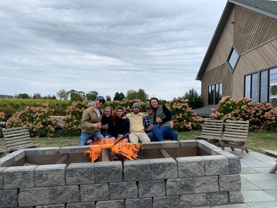 Firepit during Fall