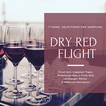 Dry Red Wine Flight