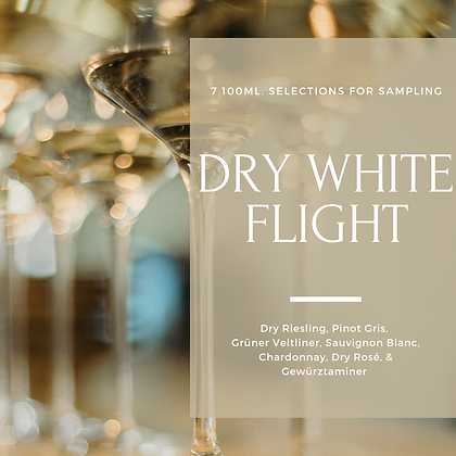 Dry White Wine Flight