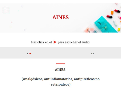 Recursos auditivos acompañados de texto