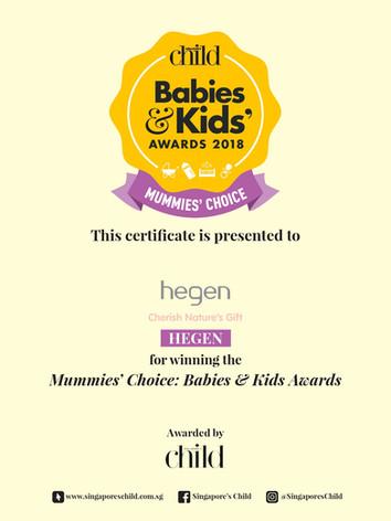 Singapore's Child Babies & Kids Awards 2018