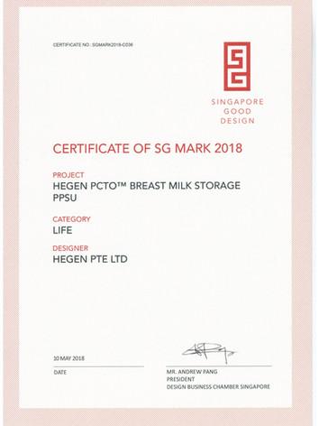 Certificate of SG Mark 2018