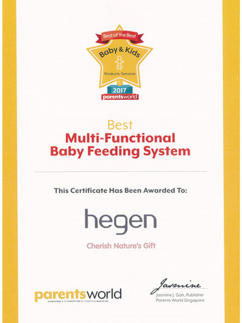 Parents World 2017 Certificate