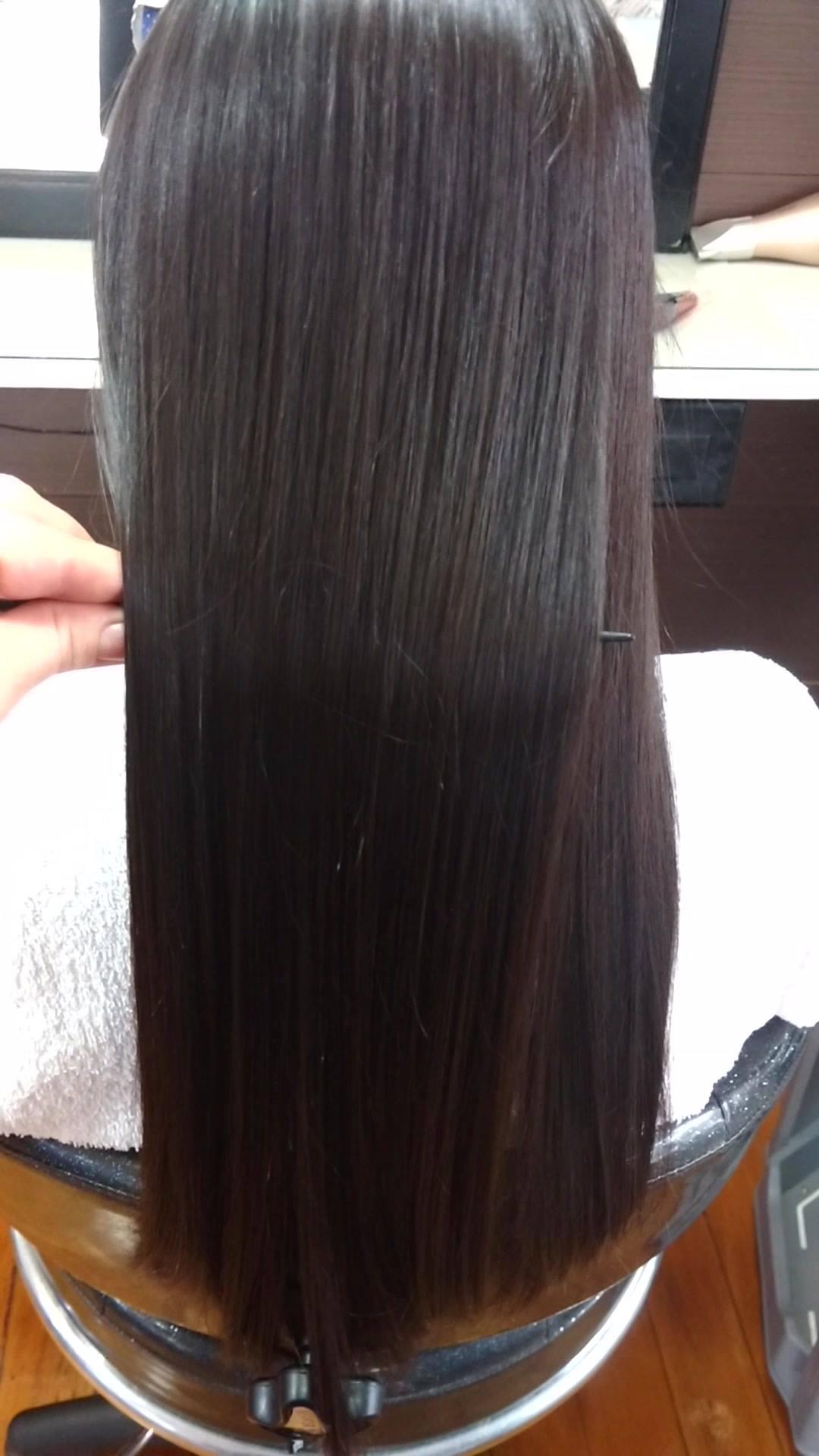 Resultado de uma progressiva orgânica...cabelos lisos e hidratados..