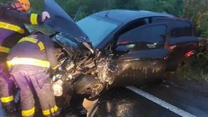 Bento Gonçalves Mulher fica ferida em acidente com três veículos