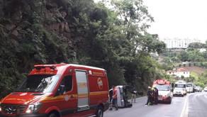 Homem fica gravemente ferido em acidente na BR-470, em Bento Gonçalves