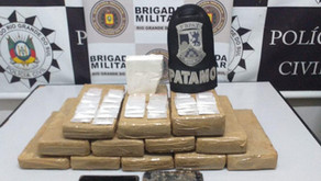 Brigada Militar e Polícia Civil apreendem grande quantidade de drogas no interior de Garibaldi