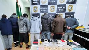 Megaoperação em Bento Gonçalves leva a 7 Prisões e apreensões