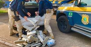 PRF prende quadrilha com 82 quilos de maconha e skunk em Passo Fundo