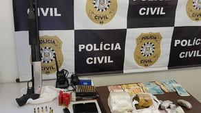 Preso suspeito de envolvimento com homicídio nesta cidade em 14.11.2020 em Santa Clara Baixa.
