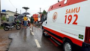 Garibaldi Grave acidente entre duas motos deixa condutores feridos