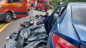 Acidente com morte no quilômetro 203 da BR 470, entre São Valentim e Tuiuty