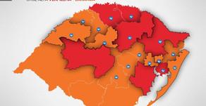 Mapa Preliminar,19ª rodada: Serra Gaúcha retorna a Bandeira Vermelha