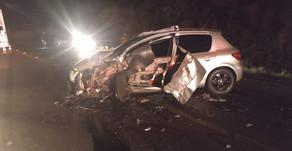 Grave acidente com vítimas na noite deste domingo na ERS 153, entre Passo Fundo e Ernestina