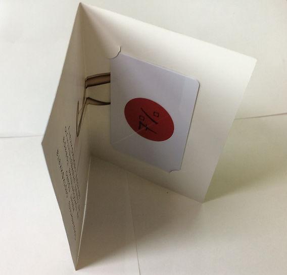 Конверт для пластиковых карт из мелованной бумаги