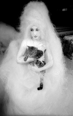 Straw girl with Cat