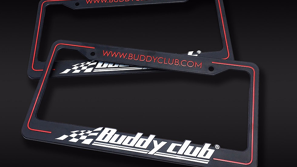 Buddy Club License Plate Frames