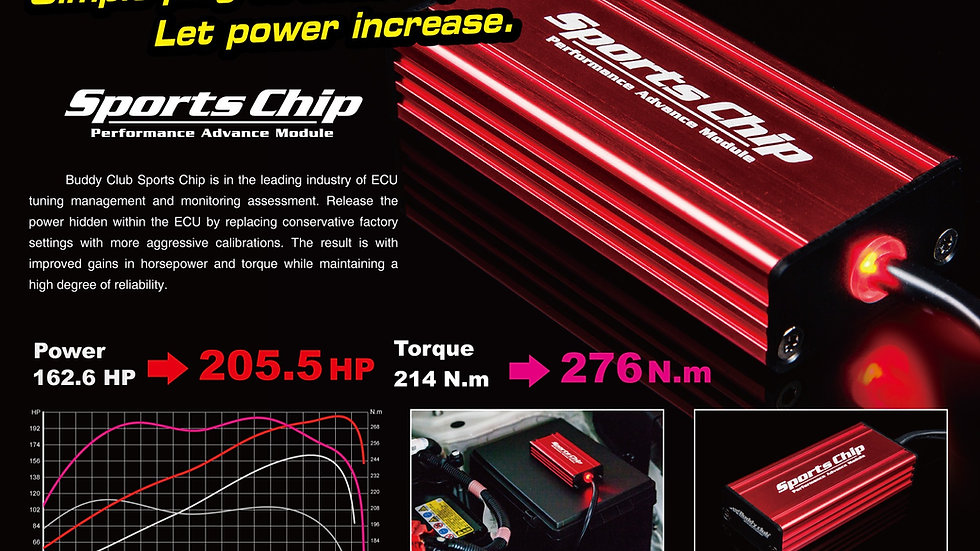 Buddy Club Sports Chip for 2016+ Honda Civic (1.5T)