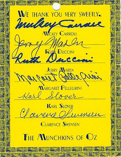 Munchkins Autograph..