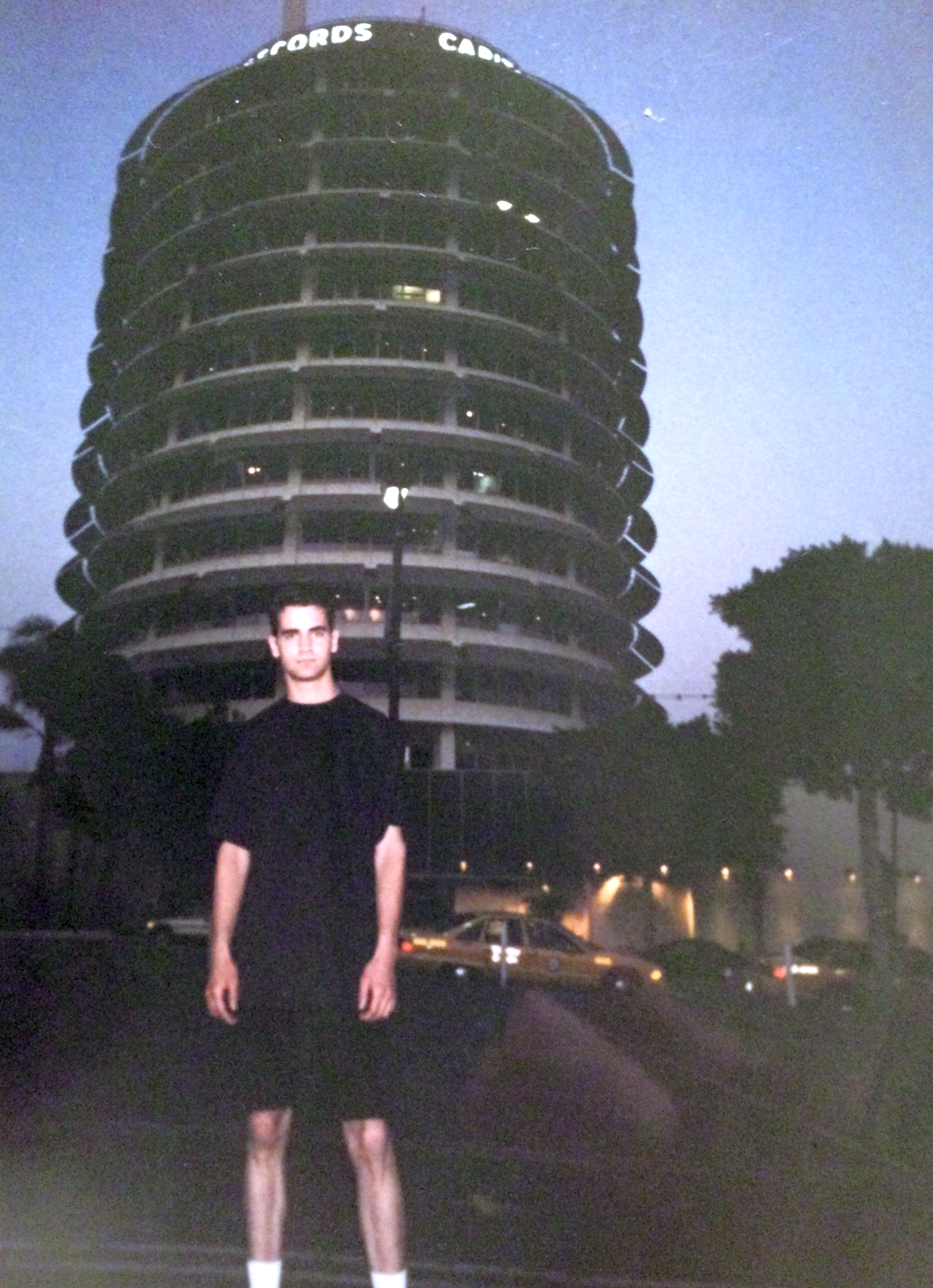 Me; in front of Capitol Records