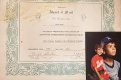 My Baseball Merit Award..