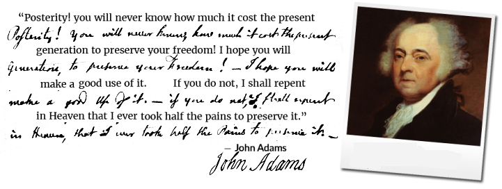 Statement from John Adams