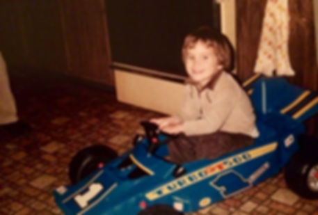 thenudo; in his 1st car!