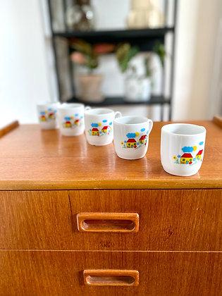 Retro coffee cups