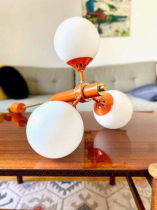 Vintage orange sputnik lamp