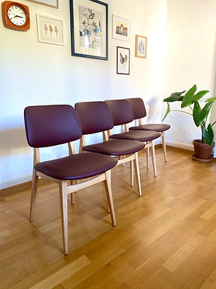 Midcentury modern set of chairs