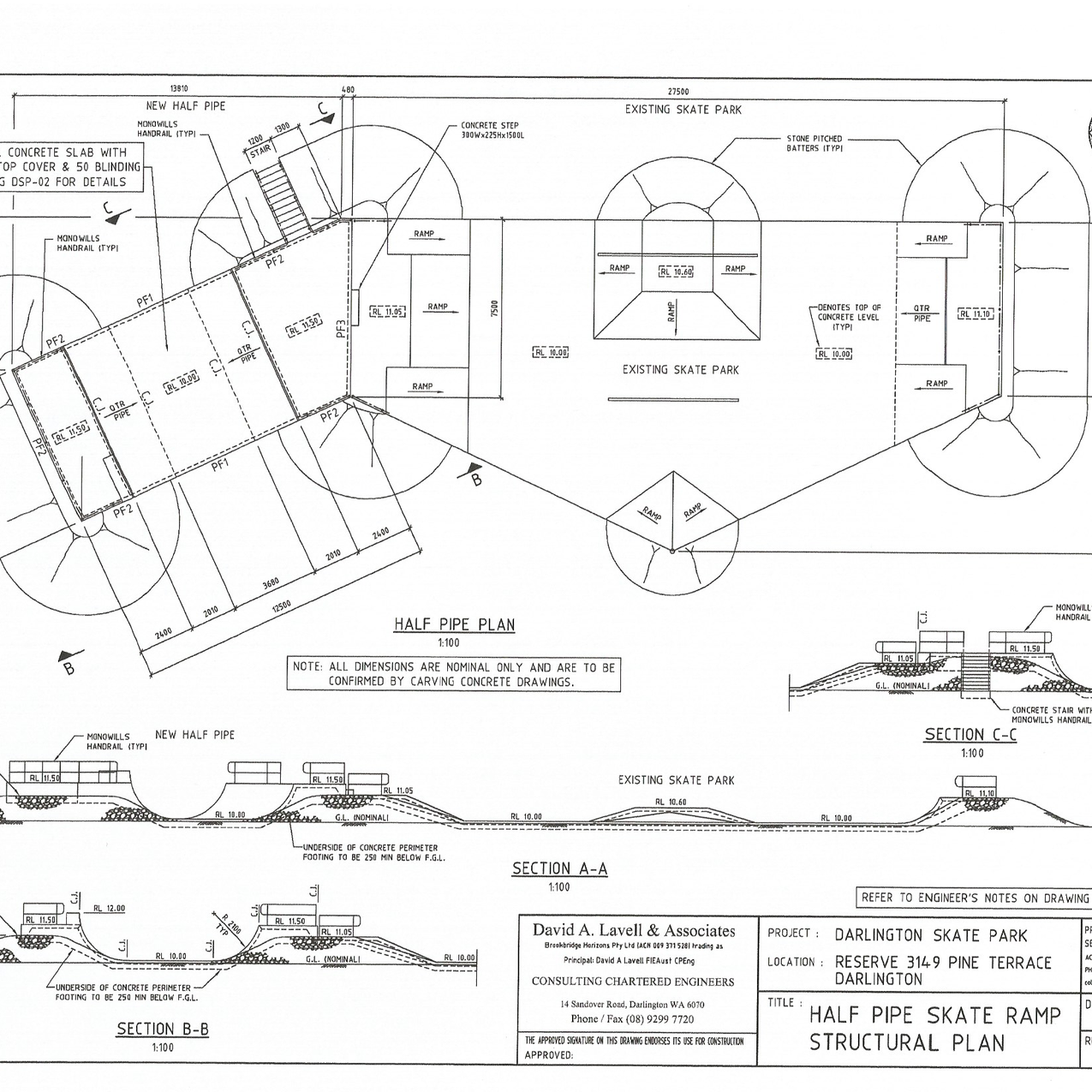 Half-Pipe Final Location Plan